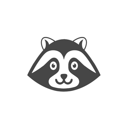 Vector image of a raccoon