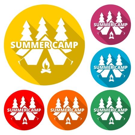 Summer camp sign - Illustration