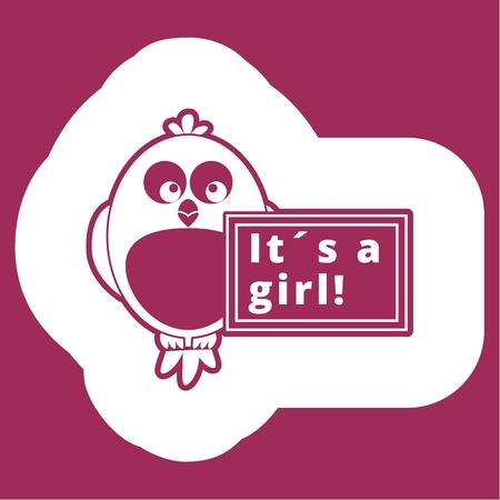 It's a girl! Illustration