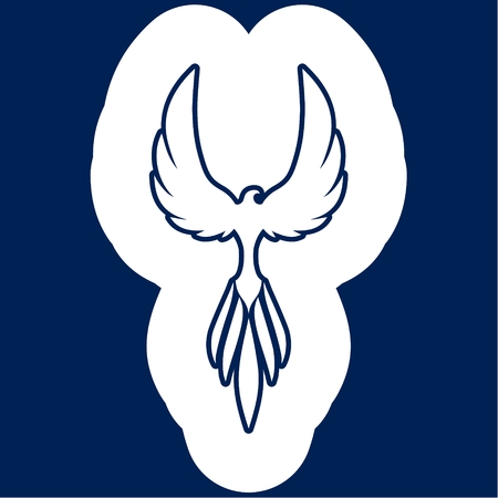 Bird logo, phoenix icon