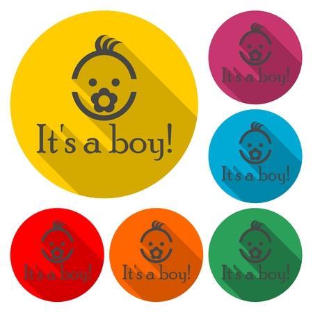 Its a boy - Vector illustration