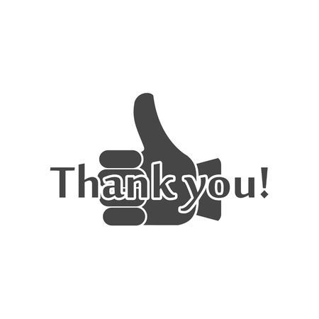 Thank you sign, Handshake icon