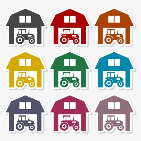 Farm House vector logo