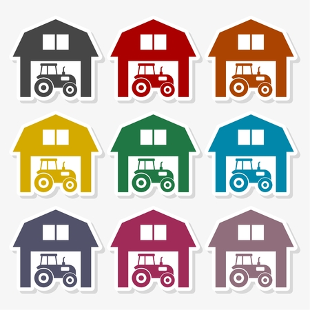 Farm House vector logo