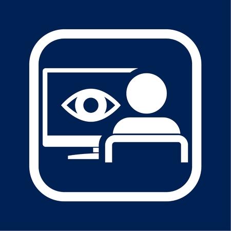 Network Surveillance Icon - Illustration Illustration