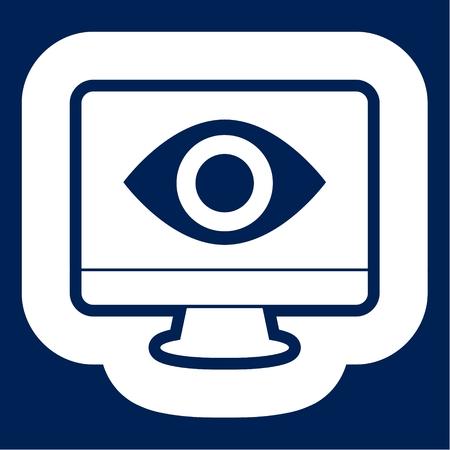 Spy eye icon - Illustration