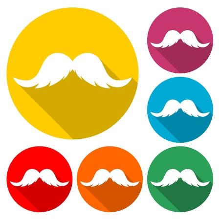 Moustache de vecteur de hipster - Illustration