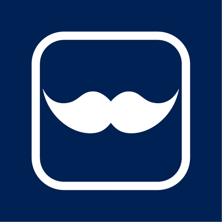 Hipster vector mustache - Illustration