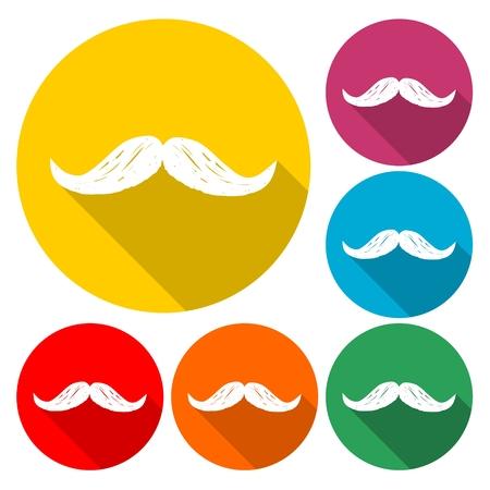 Hipster vector mustache - Illustration