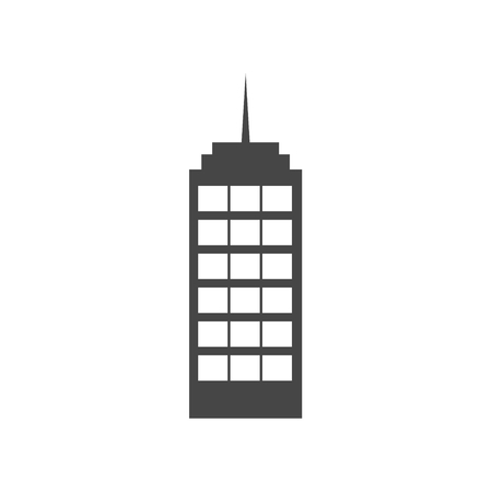 Building vector web icon - Illustration