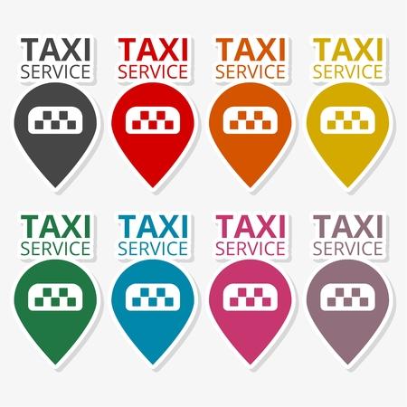 Taxi logo. Public transport symbol