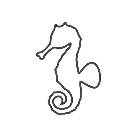 Sea horse vector illustration Çizim