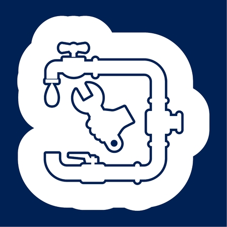 Service plumbing and sanitary ware Stock Illustratie
