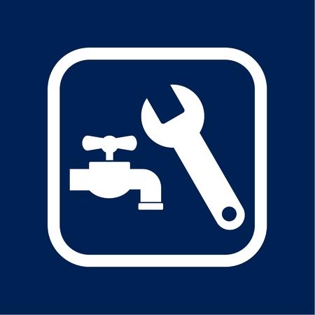 Repair of water pipe - Illustration