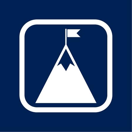 Flag on a Mountain peak