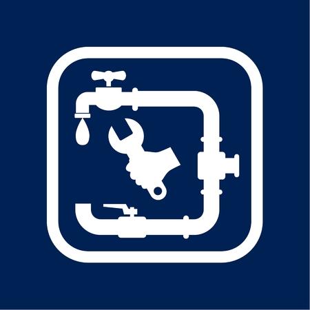 Service plumbing and sanitary ware Illustration