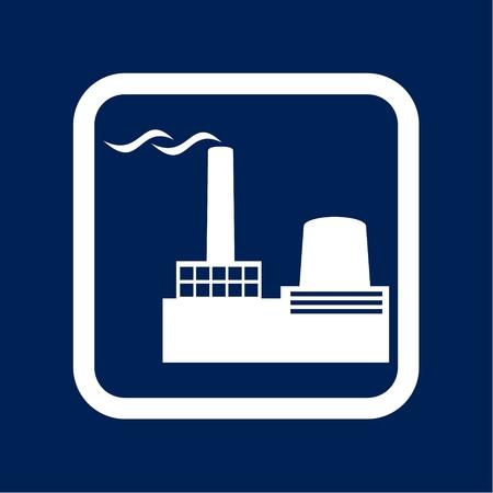Factory Icon Flat Graphic Design - Illustration