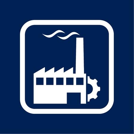 Factory Icon Flat Graphic Design - Illustration Stockfoto - 103303011