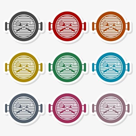 Grill Icon Flat Graphic Design - Illustration Ilustrace