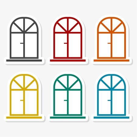 Window Icon Flat Graphic Design Banque d'images - 103303199