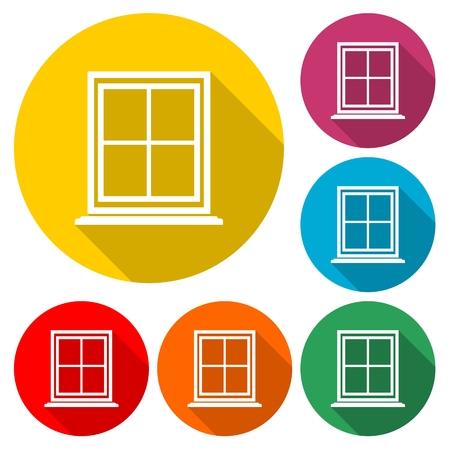 Window Icon Flat Graphic Design - Illustration