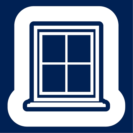 Window Icon Flat Graphic Design - Illustration Banque d'images - 103303336