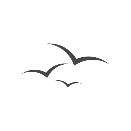 Seagull vector illustration Çizim