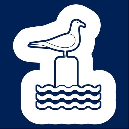 Seagull vector illustration Ilustração