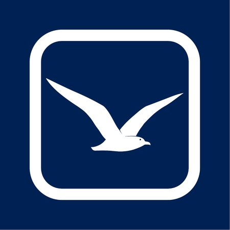 Seagull icon - vector illustration