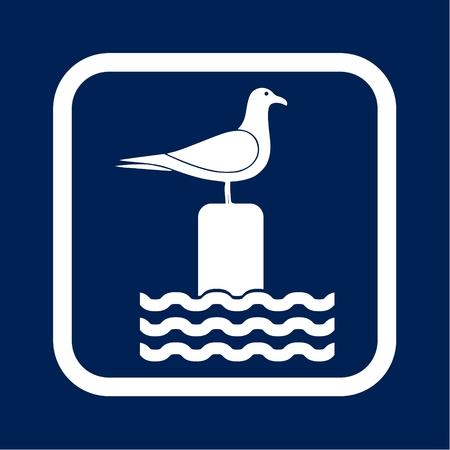 Seagull vector illustration Ilustrace