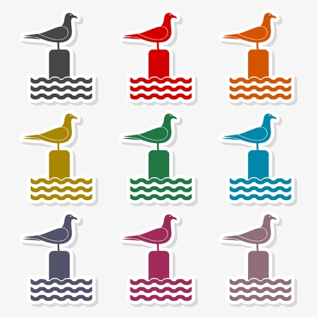 Seagull vector illustration Illustration