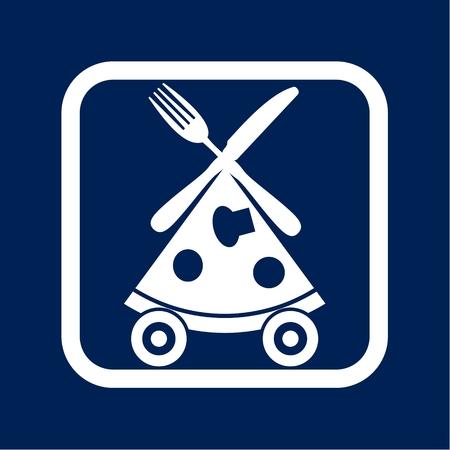 Pizza delivery Ilustração