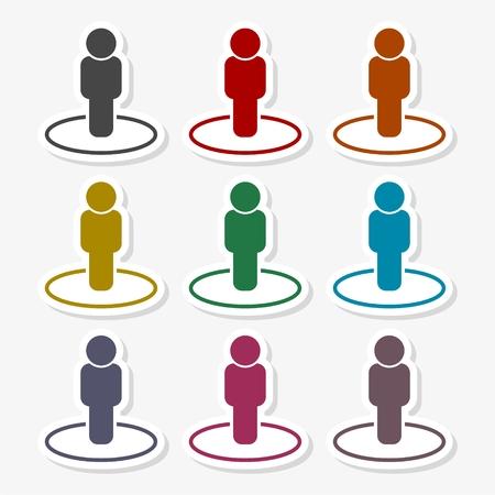Street View icon vector, person standing Vektoros illusztráció