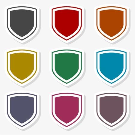 Shield seal frame icon