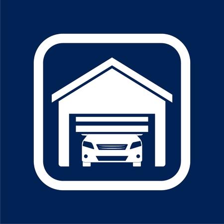 Automatic garage door icon