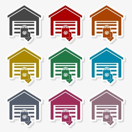 Garage remote control icon - Illustration