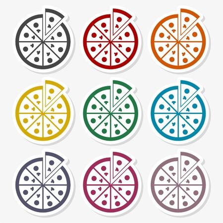 Pizza illustration icon