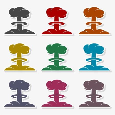 Nuclear explosion mushroom cloud - Illustration Illustration