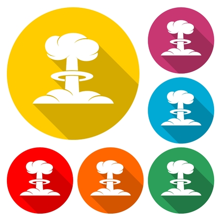 Nuclear explosion mushroom cloud - Illustration Vettoriali