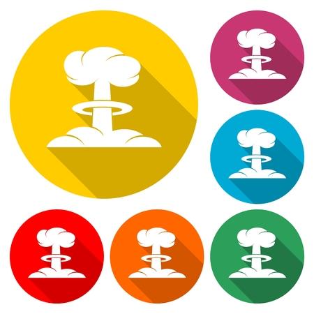 Nuclear explosion mushroom cloud - Illustration 일러스트