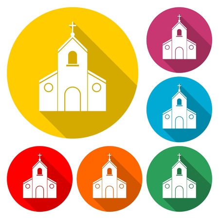 Church Icon Flat Graphic Design - Illustration