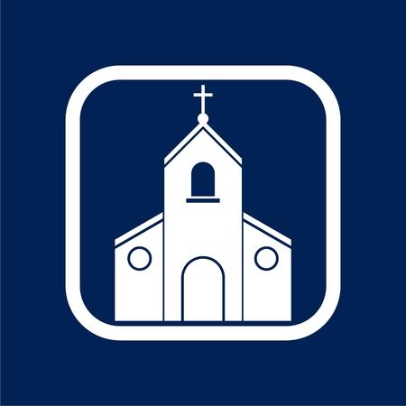 Church Icon Flat Graphic Design - Illustration