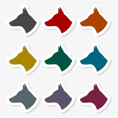 Vector illustration of dog head Ilustração