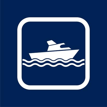 Ship Icon Flat Graphic Design - Illustration Vectores