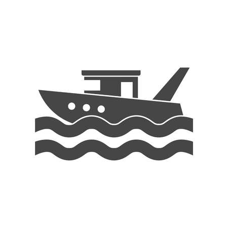 Fishing boat in the sea Illustration