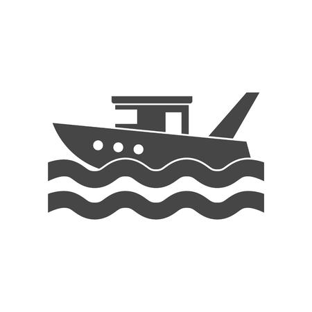 Fishing boat in the sea Illustration
