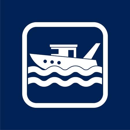 Icono de barco diseño gráfico plano - ilustración Ilustración de vector