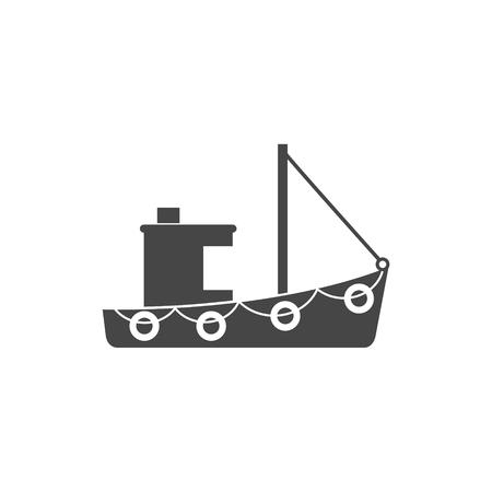 Ship Icon Flat Graphic Design - Illustration Иллюстрация