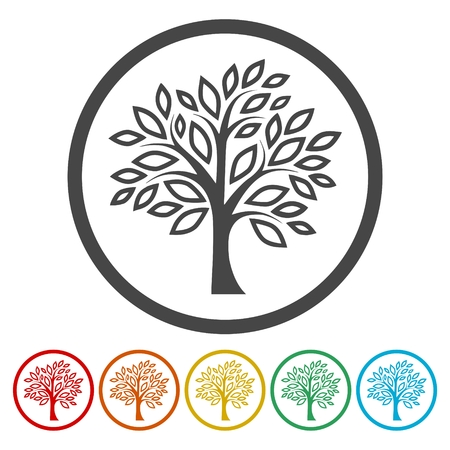 Simple tree icons set