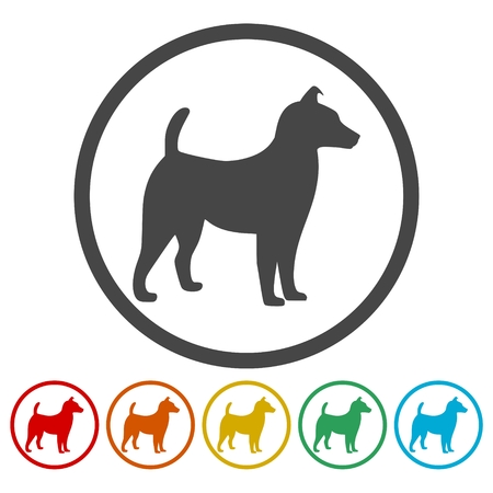 Dog Icons set Stock Illustratie